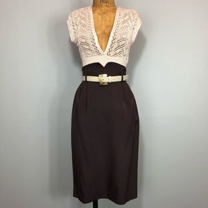 Vintage 80s Ultra High Waist Wiggle Pencil Skirt